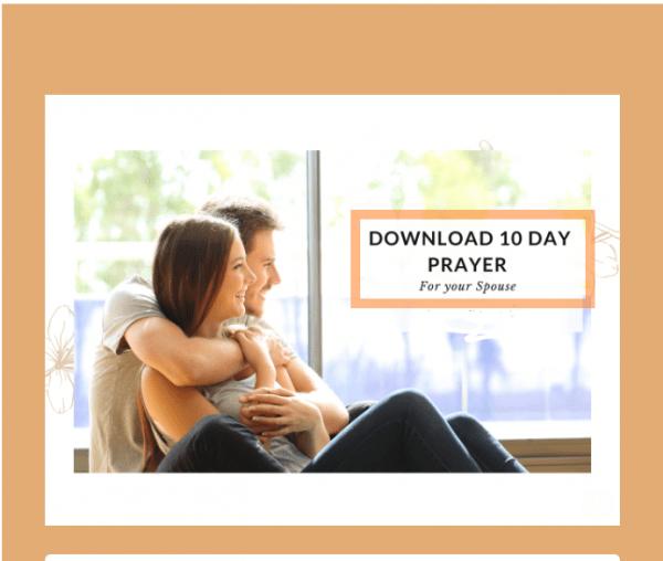 Ten Days Prayer for your spouse