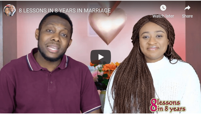Eight Lessons in Eight Years of marriage