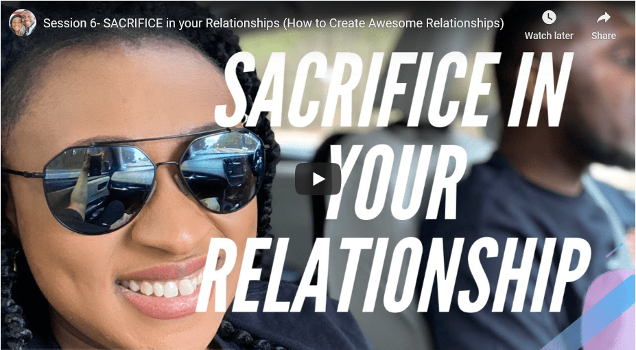 Sacrifice in your relationship