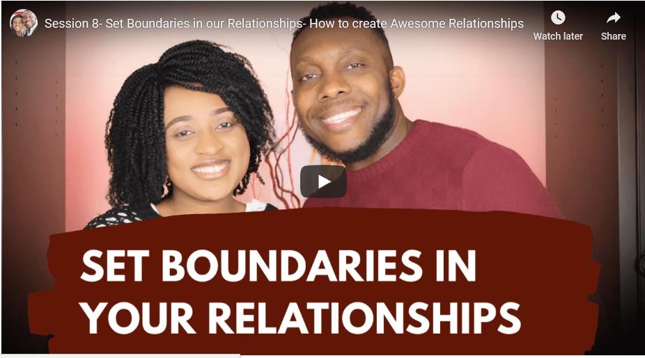 Set boundaries in your relationship